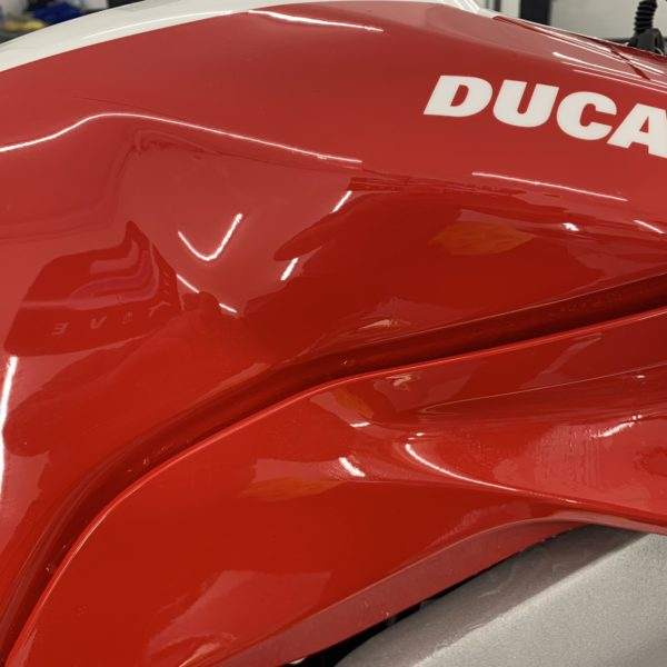 XPEL PAINTWORK PROTECTION FILM APPLIED TO A DUCATI BIKE - Ceramic Coating